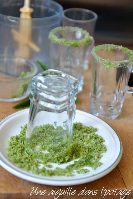 verre givré sucre-menthe