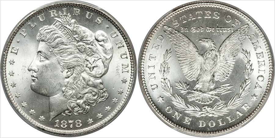 Монета серебряный доллар Моргана