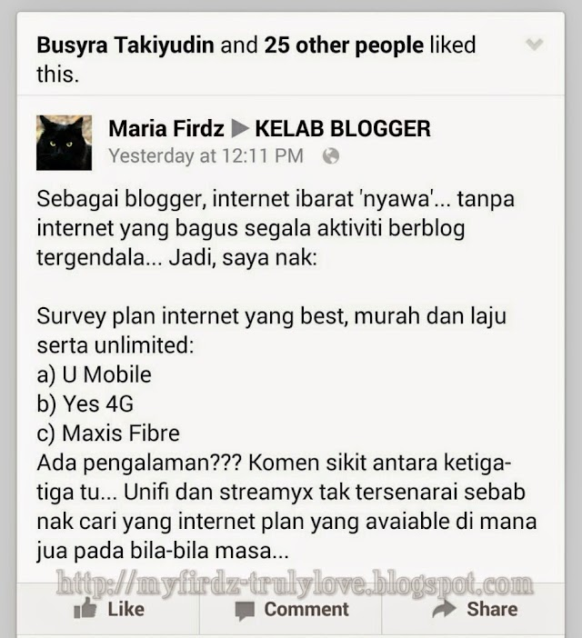 Plan Internet Pilihan Blogger!