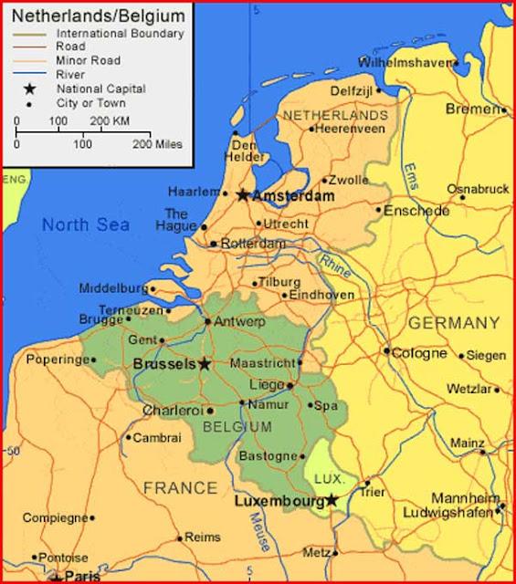Gambar Peta Belanda