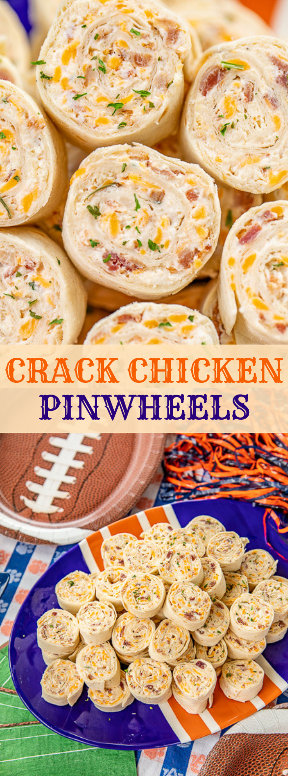 CRACK CHICKEN PINWHEELS #readytoeat #partyfood