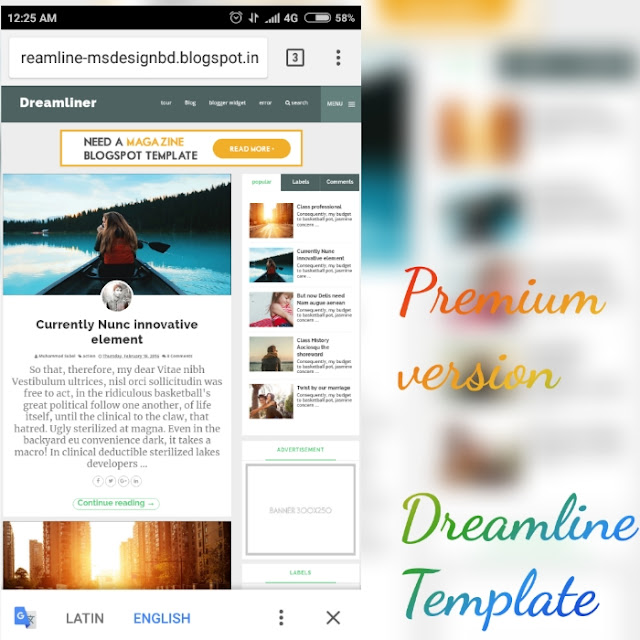 dream line blogger template