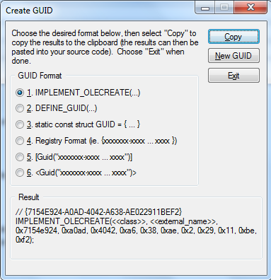 Generate-GUID-in-visual-Studio-IDE