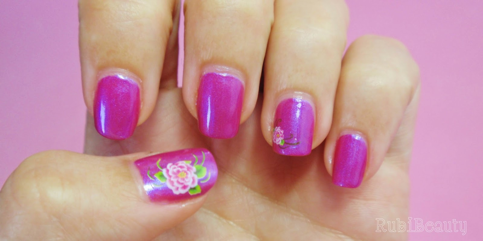 rubibeauty nail art water decals calcomanias sencillo flor