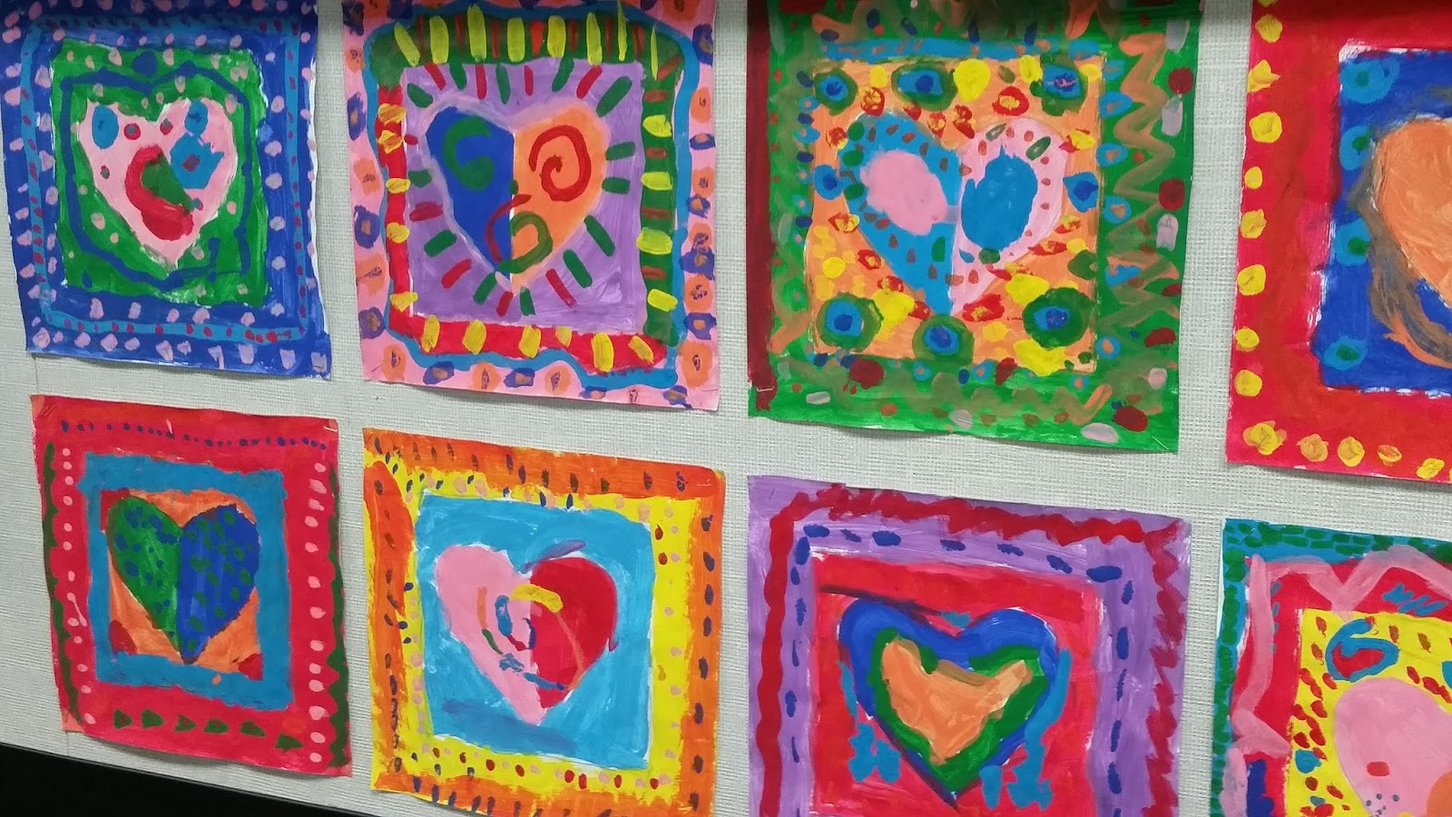 Smiling And Shining In Second Grade Valentine S Day Art