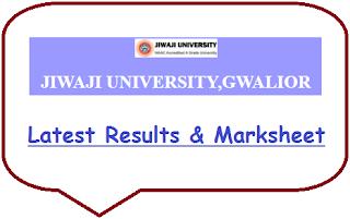 Jiwaji University Results May June 2020