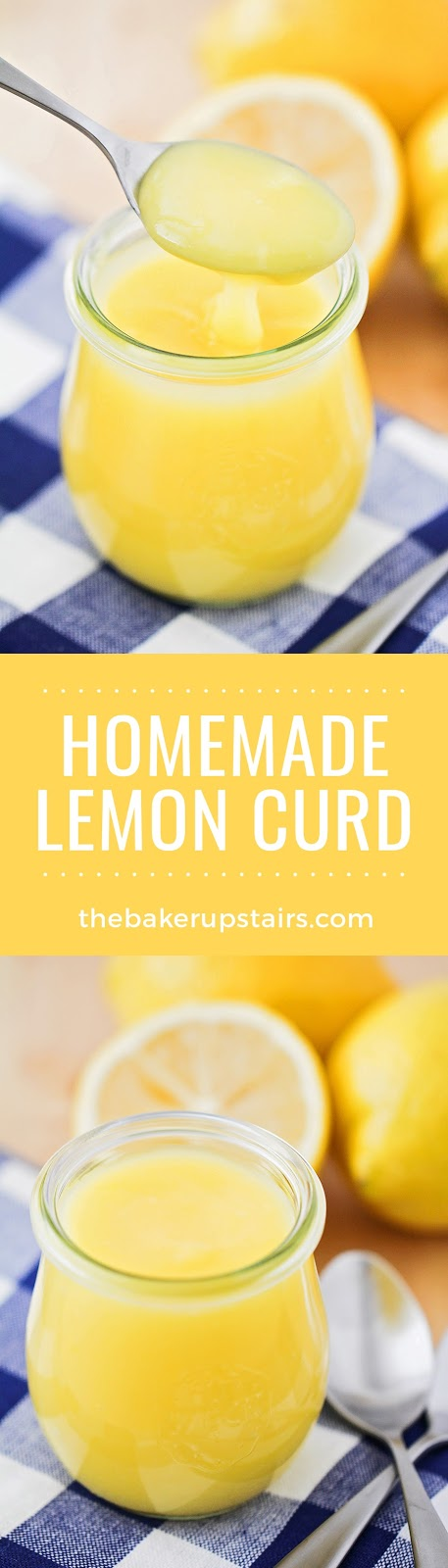 This homemade lemon curd has a bright, sunny flavor, and is the perfect balance of sweet and tart!