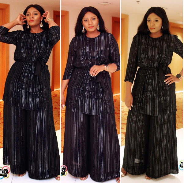 Omotola in sheer black outfit