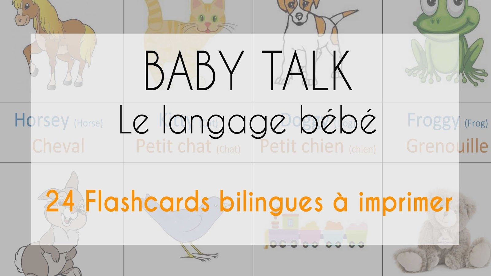 Article baby talk bilingue anglais flashcards