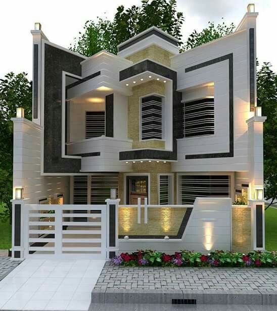 Contemporary Home Exterior Design Ideas: Modern House Front Designs: 50 Exterior Wall Decoration
