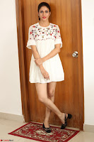Lavanya Tripathi in Summer Style Spicy Short White Dress at her Interview  Exclusive 174.JPG