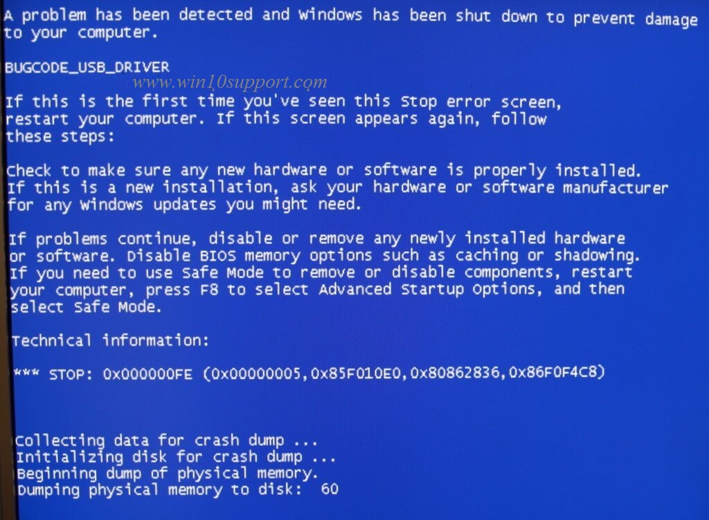 How To fix BUGCODE USB DRIVER Blue Screen of Death error On