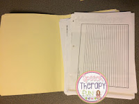 Speech Therapy Plans: Organizing Your Files