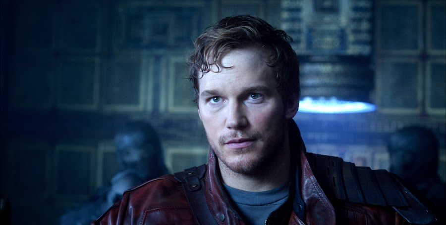 Chris Pratt în rolul Star Lord din Guardians Of The Galaxy