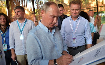 Vladimir Putin attended the Tavrida National Youth Educational Forum.
