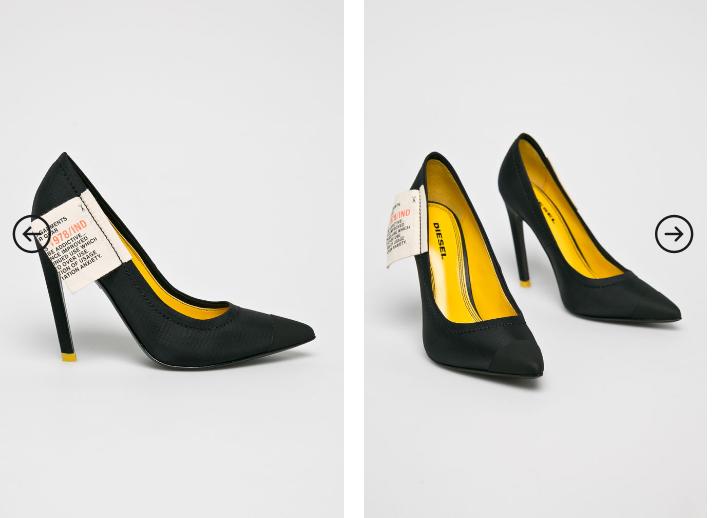 Diesel - Pantofi cu toc de dama originali din piele naturala