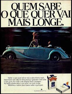 cigarros minister anos 70; Souza Cruz; propaganda anos 70; história decada de 70; reclame anos 70; propaganda cigarros anos 70; Brazil in the 70s; Oswaldo Hernandez;