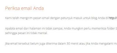 periksa email kiriman blogger