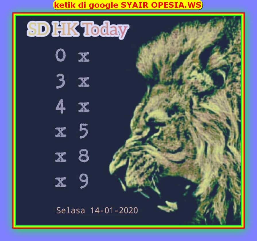 Kode syair Hongkong Selasa 14 Januari 2020 86