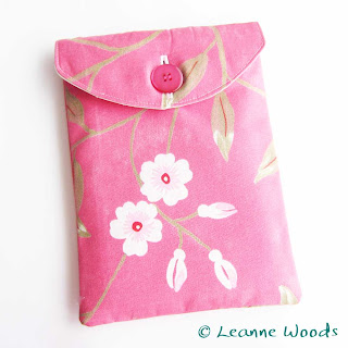 Designer Handmade Kindle Case in Cherry Blossom for Kindle Nook Kobo Ereader available to buy on Folksy