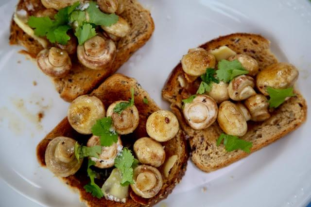 mushrooms on toast/ Boating on the Norfolk broads, pic: Kerstin Rodgers/msmarmitelover.com