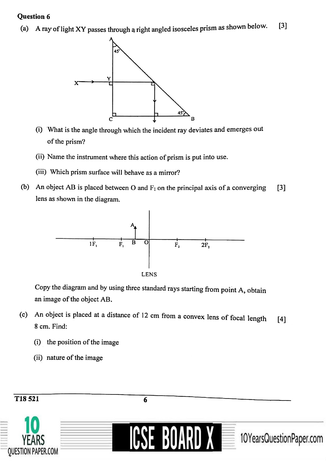 ICSE Board 2018 class 10th Physics question paper Download page-06