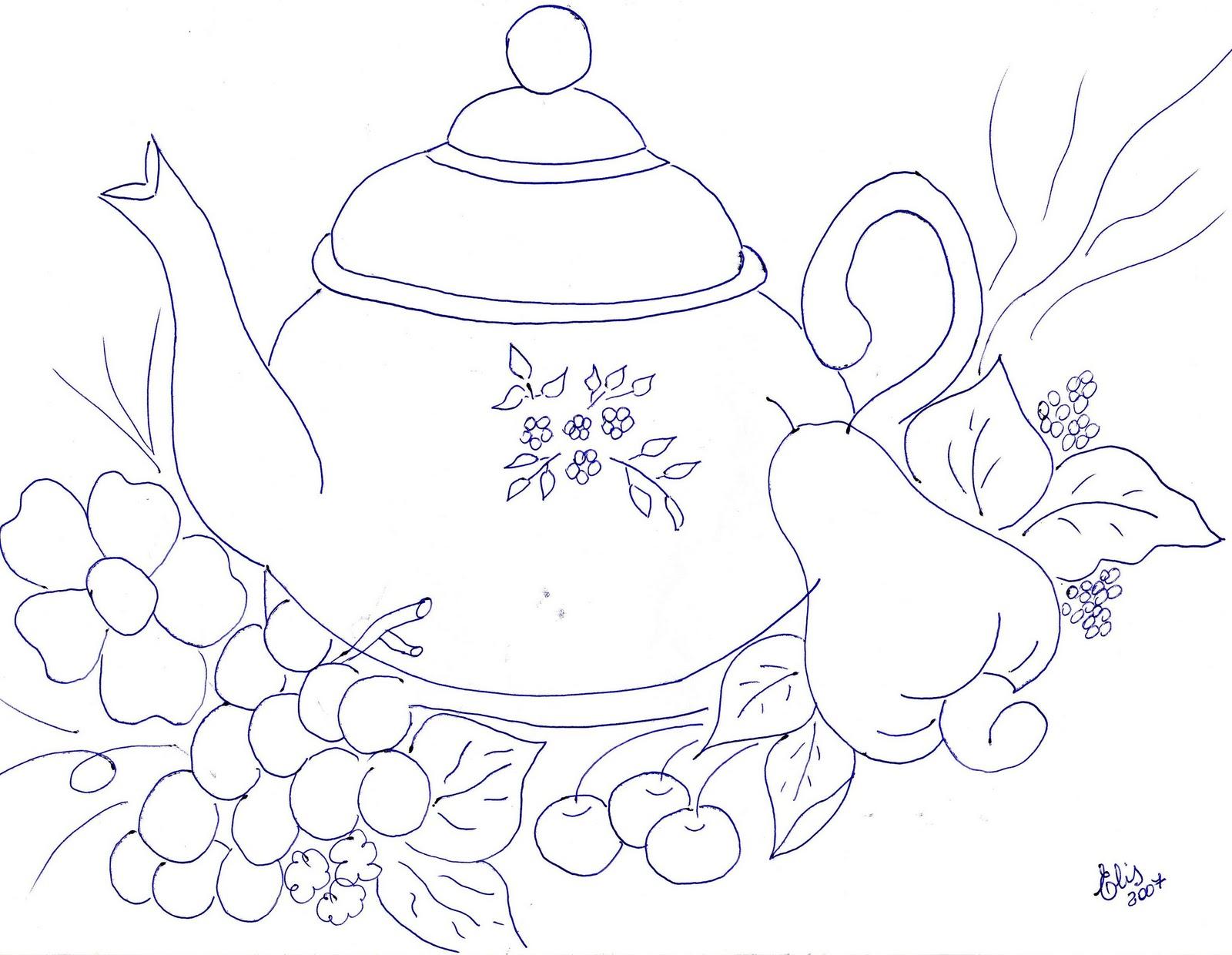 Dibujos De Flores Y Frutas Para Pintar En Tela Buscar