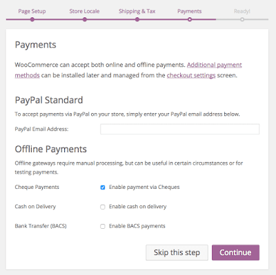 payment setup wizard woocommerce