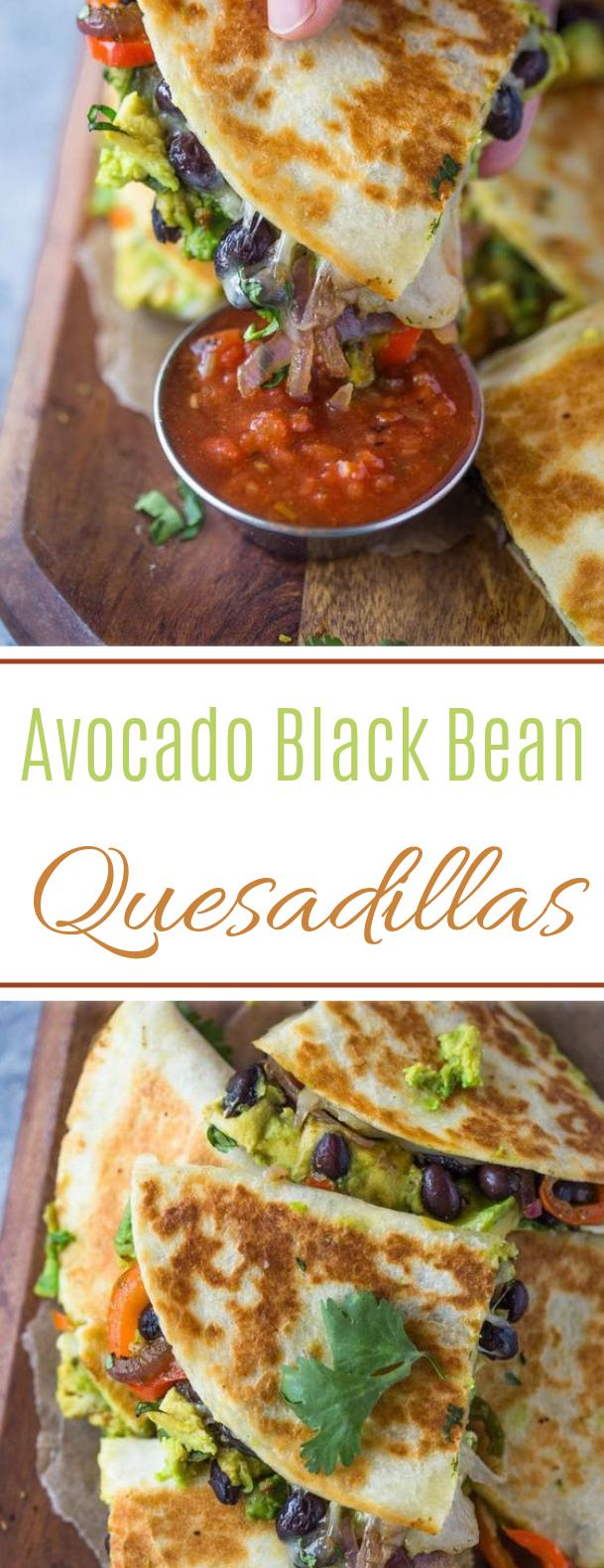 Avocado Black Bean Quesadillas #lunch #vegetarian