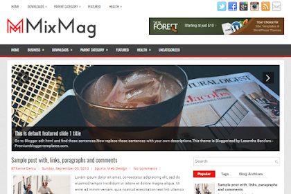 Free Download Mixmag Blogger Template