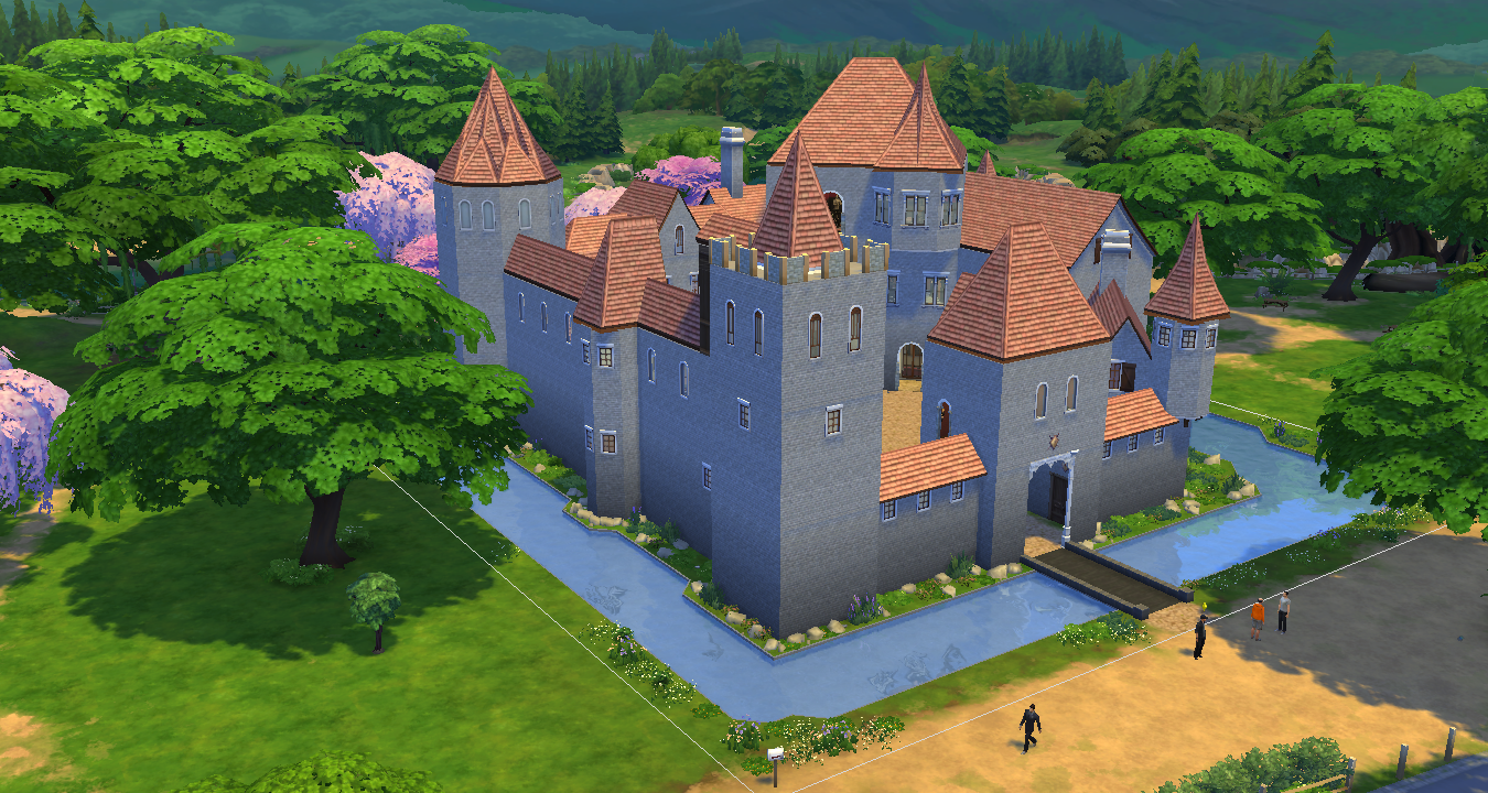 Simsdelsworld The Sims 4 Medieval Royal Castle