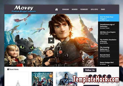 movey light responsive blogger template