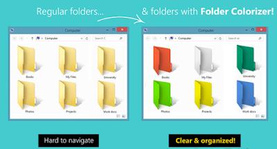 folder diffrent color