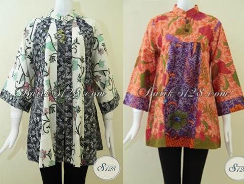 13 Gambar Model Baju Batik Untuk Orang Gemuk Terbaru 2016