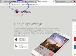 Website TELKOMSEL yang tidak secure