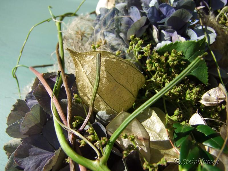 Hortensienkranz wickeln