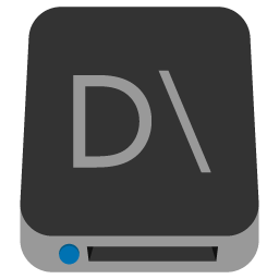 Preview of Drive, hard disk, Solid drive, Local drive folder icon