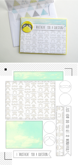 Free print & cut Mustache card kit .studio Silhouette file - from melstampz