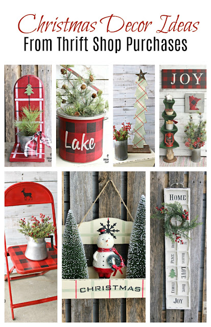 Christmas Decor DIY from Thrift Shop Items