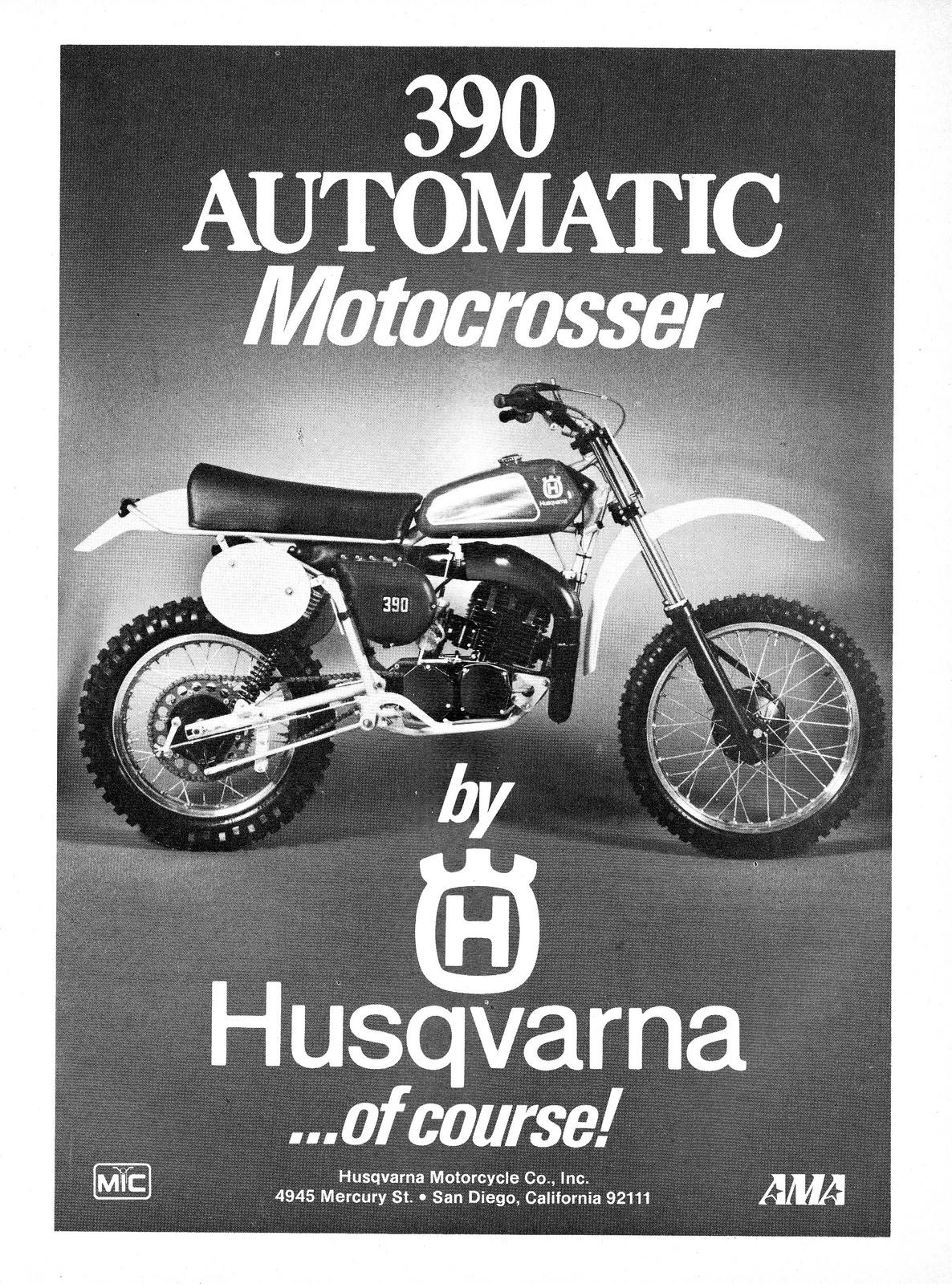 Racing Caf U00e8  Vintage Brochures  Husqvarna 390 Automatic