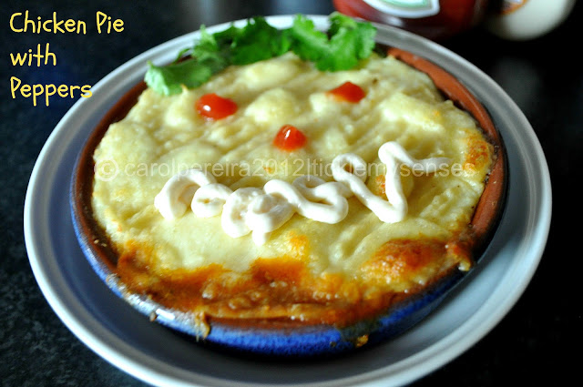 Tickle My Senses Creamy Chicken Pie With Peppers For