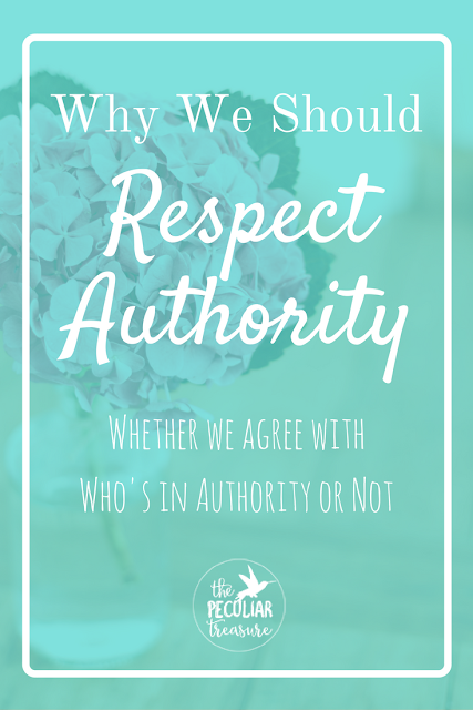 Do we really have to respect authority even if the one who's in charge is awful? Even if we feel physically sick over the election results?