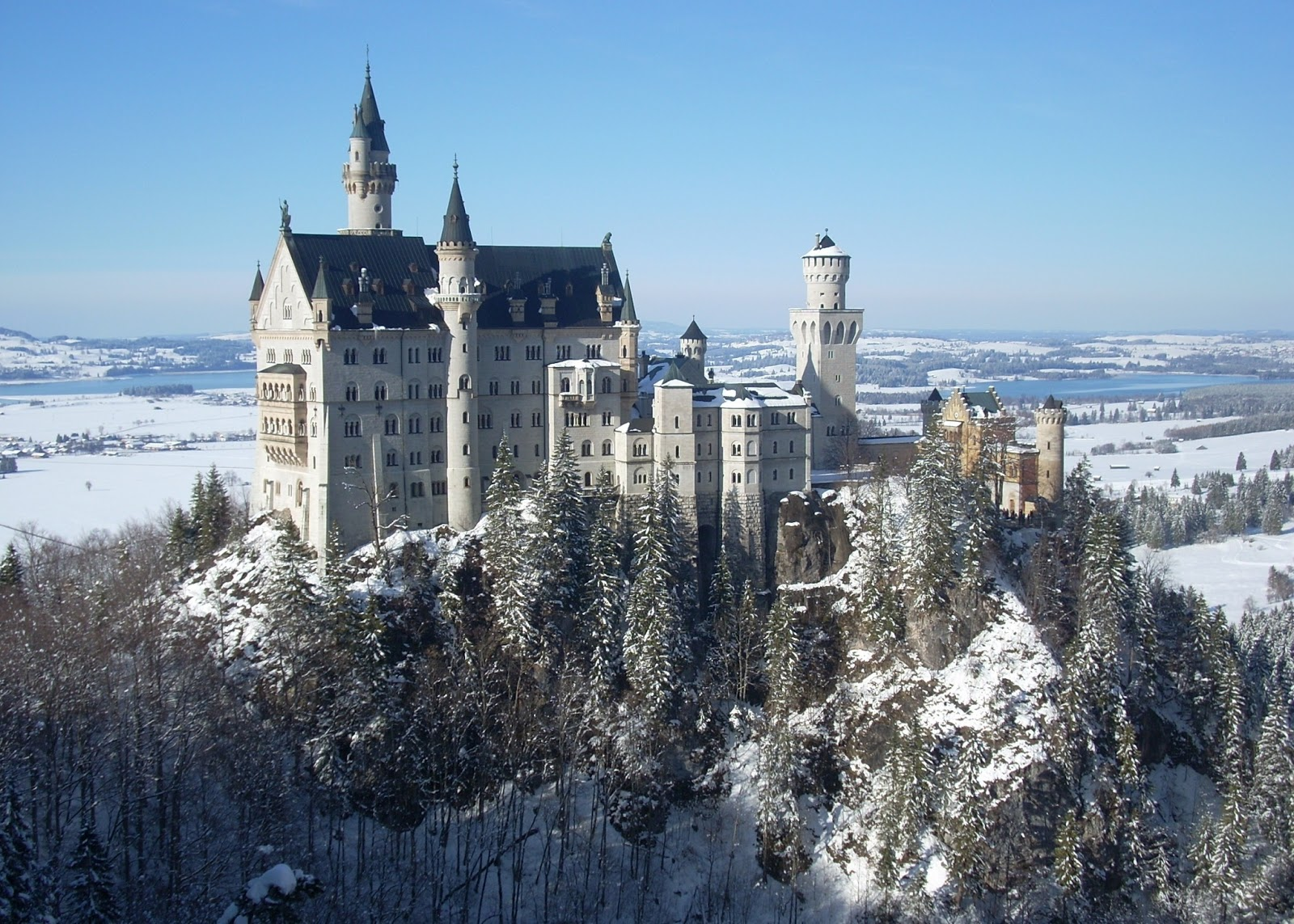 unique wallpaper the great neuschwanstein castle germany wallpaper. Black Bedroom Furniture Sets. Home Design Ideas