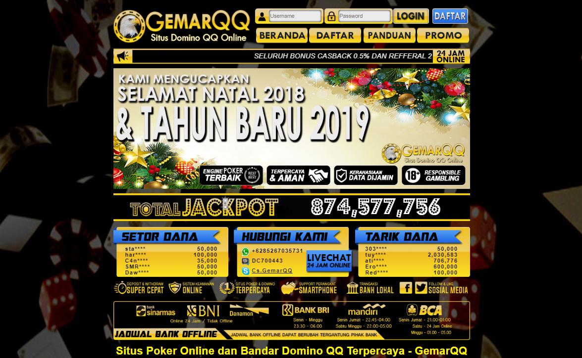 GemarQQ Agen Poker Domino QQ Online Tanpa Bot