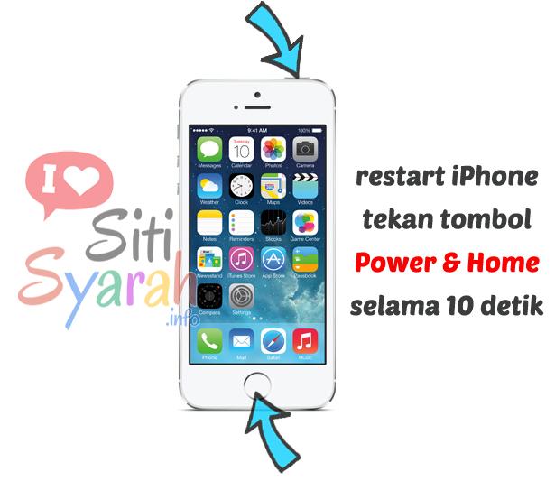 cara restart iphone hang