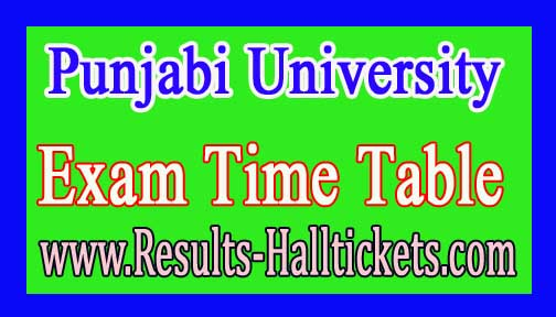 Punjabi University PGDCA Ist Sem 2016 Exam Time Table