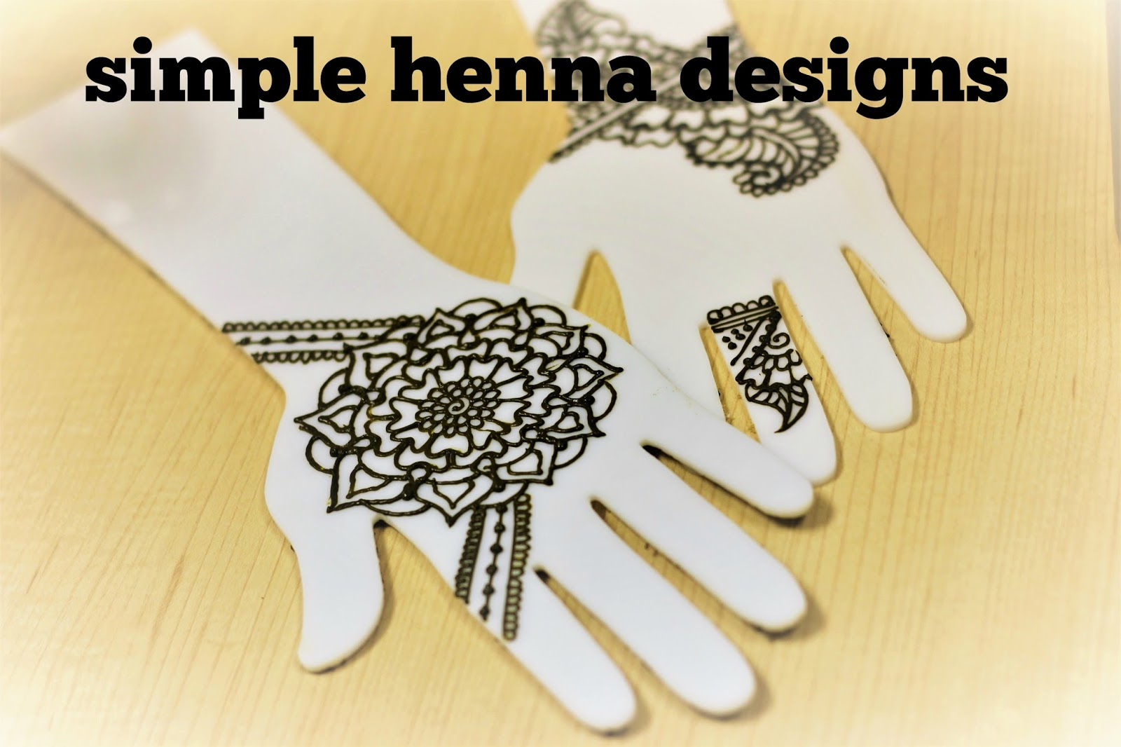 Simple 5 Minute Henna Designs