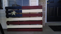 Distressed Pallet Flag