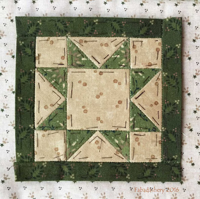 Dear Jane Quilt - Block F7 Star Struck