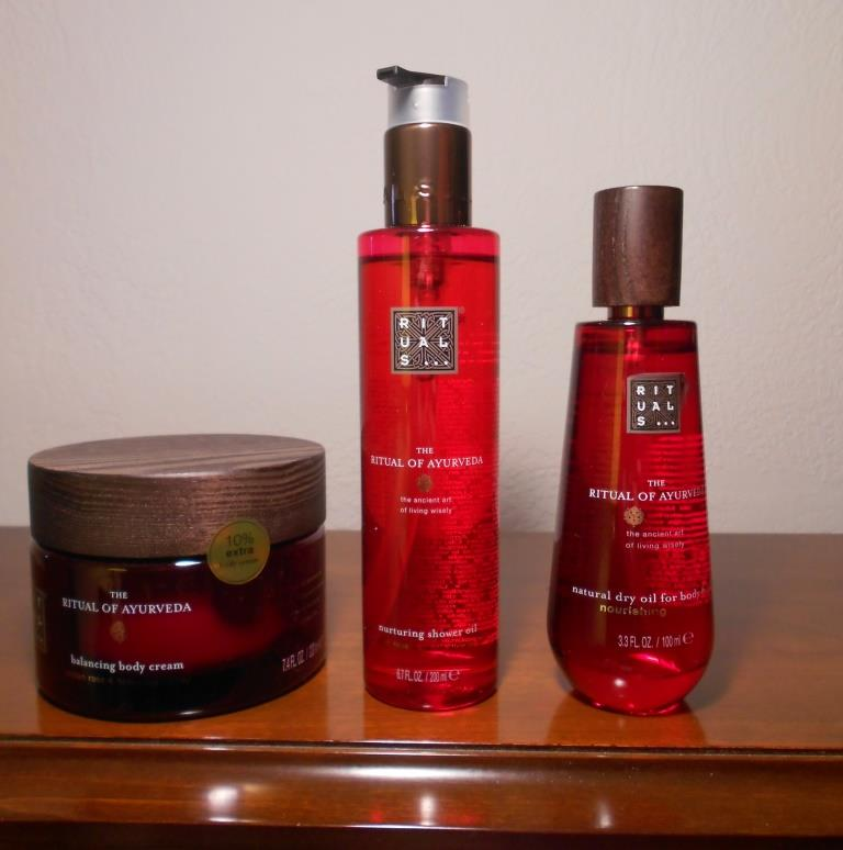 Rituals Ayurveda Shower Oil, Body Cream & Dry Oil Vata